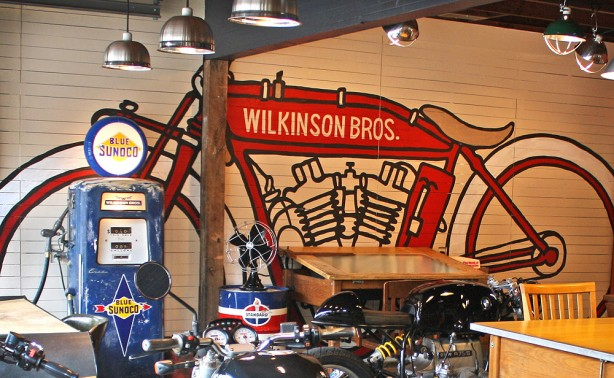 Motorcycle Mural for the Studio