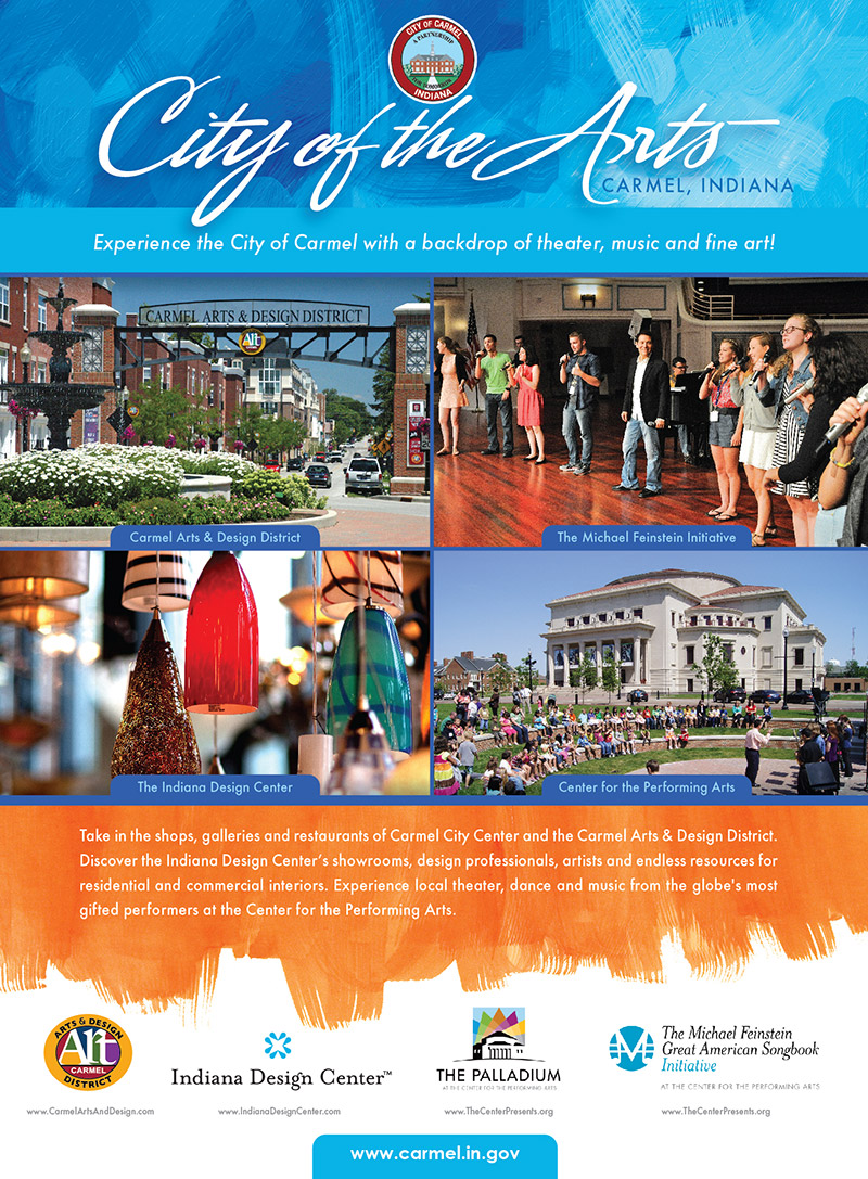 city of carmel – print ad | wilkinson brothers graphic design and