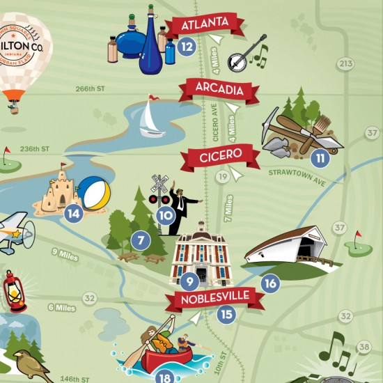 Hamilton County Tourism Map