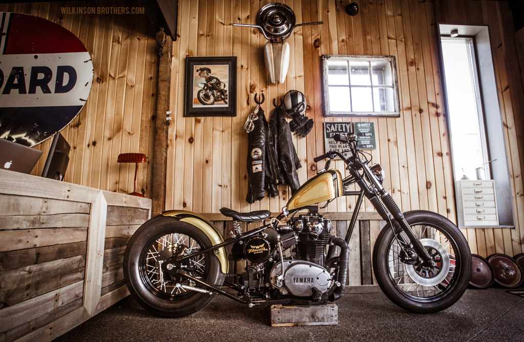 The Wilkinson Bros chopper built by Ardcore Choppers. It's powered by a 1978 Yamaha.