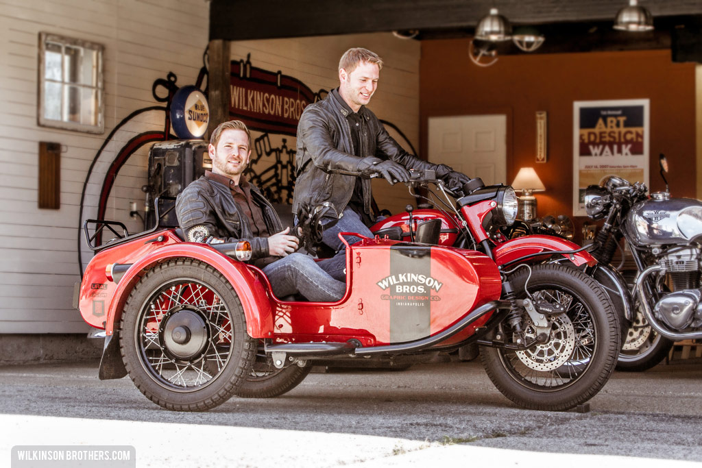 The shop bike is a 2010 Ural sidecar motorcycle.