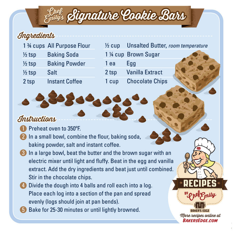 Baker's Edge Edge Brownie Pan Cookie Bar Recipe