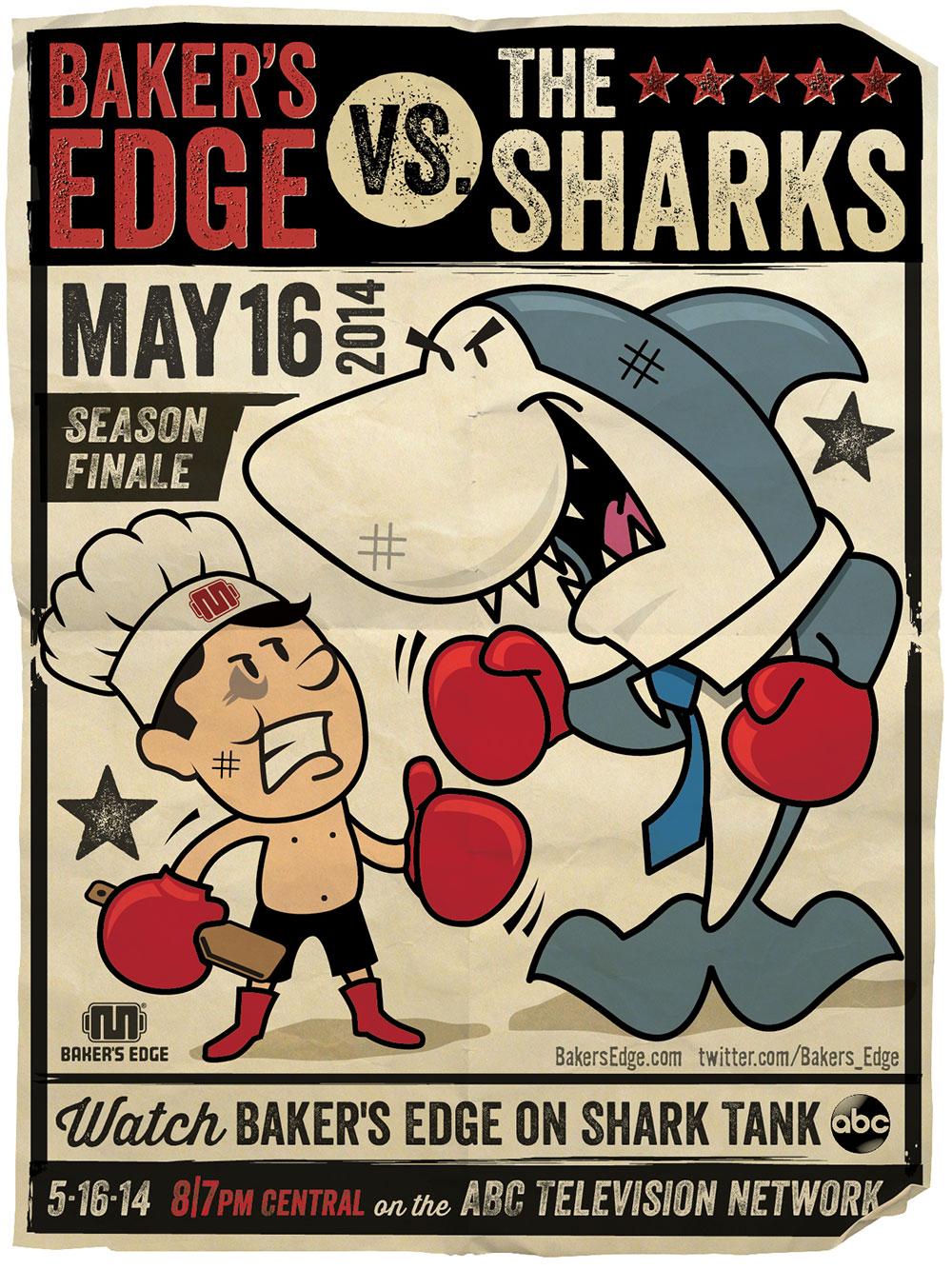 Bakers Edge Poster Illustration