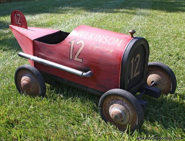 Creative Repurposing: Mailbox Race Car
