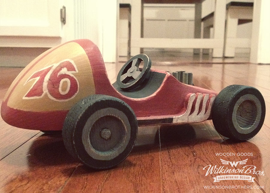 Wooden Racecar Toy