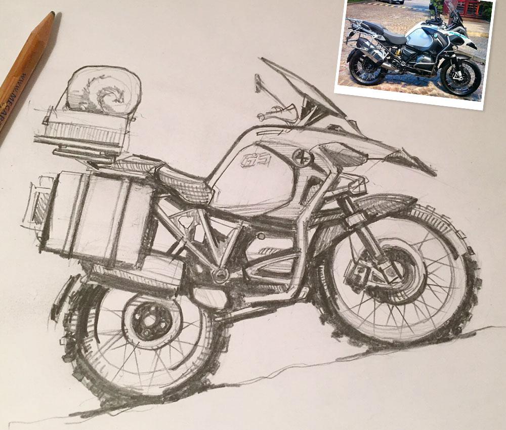 BMW R1200GS sketch
