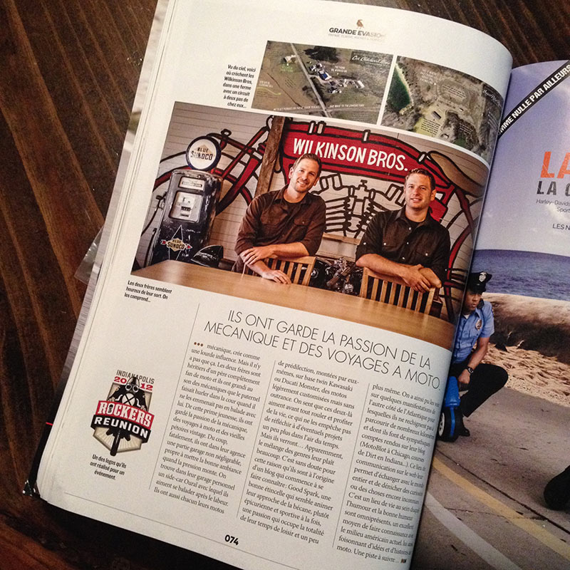 Moto Heroes Magazine article about Wilkinson Brothers
