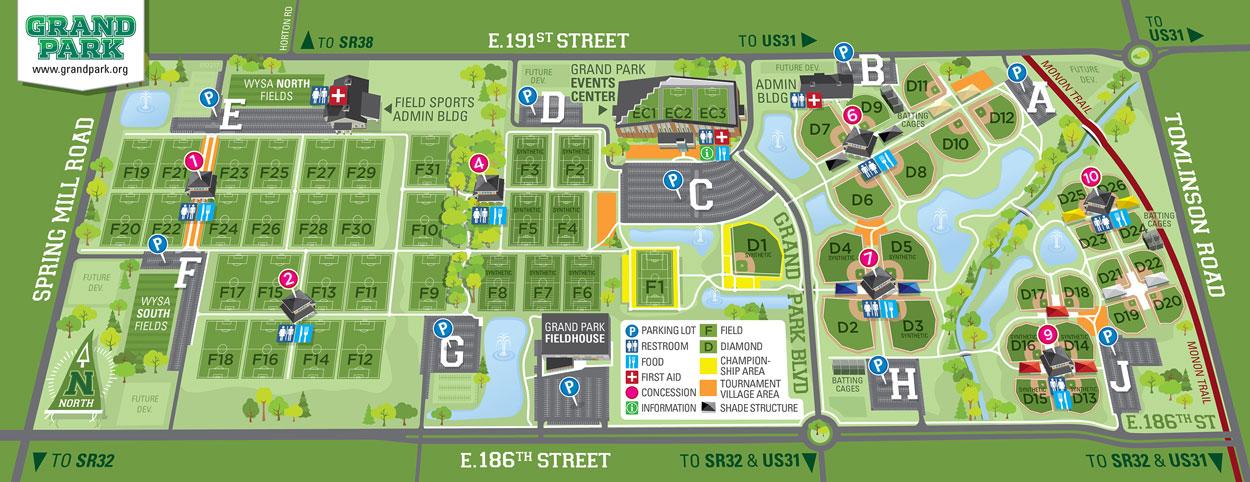Grand Park lllustrated Map