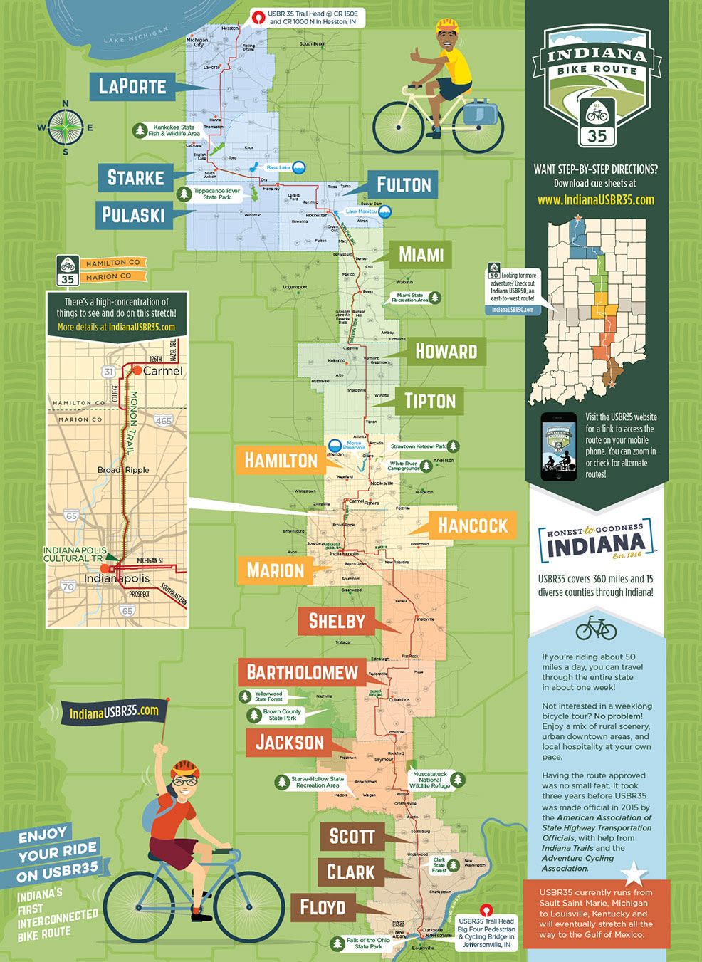 bicycle route / trail map | wilkinson brothers graphic design and