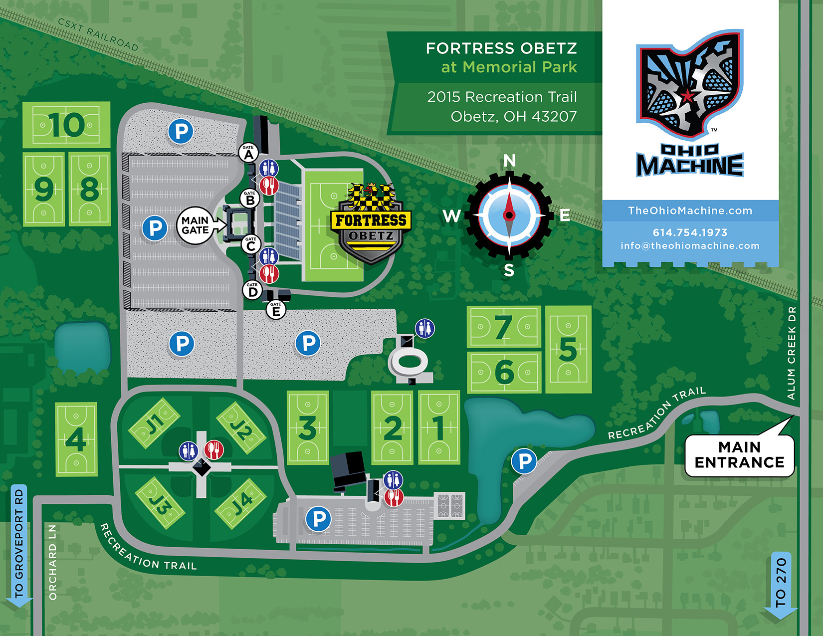Illustrated Map – Sports Complex