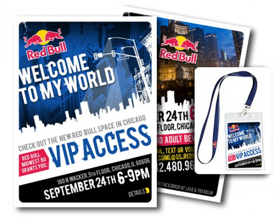 Red Bull – Print Invitation