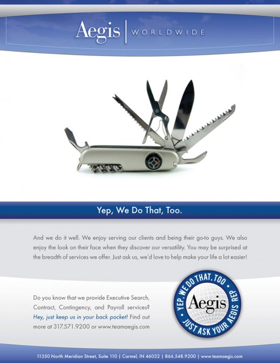 Aegis Print Collateral