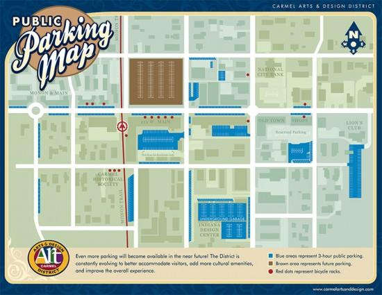 Parking Map Illustration