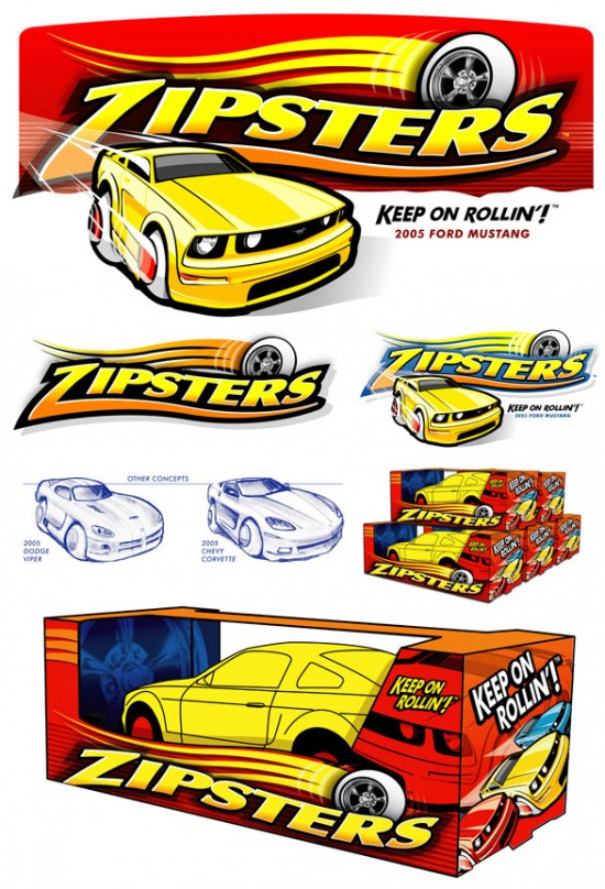 Zipsters Toy Cars