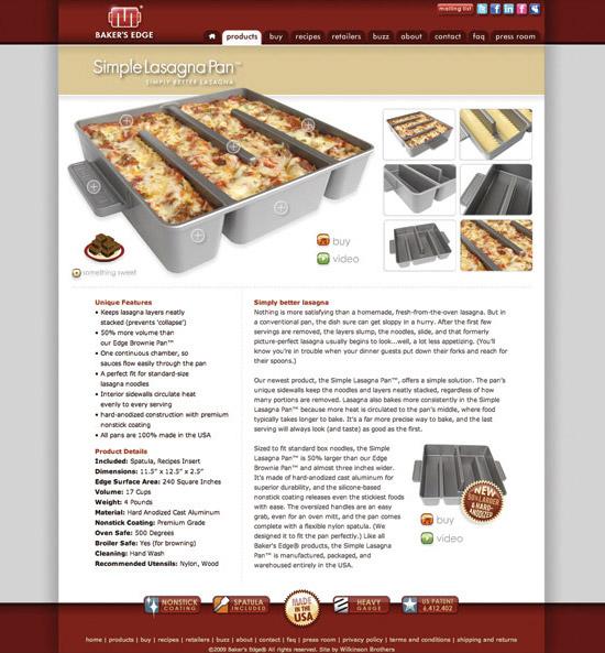 Baker's Edge Website