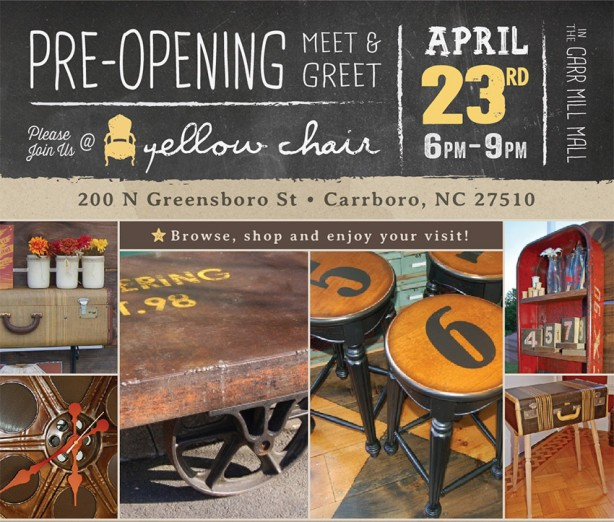Yellow Chair Opens Carrboro, NC Shop
