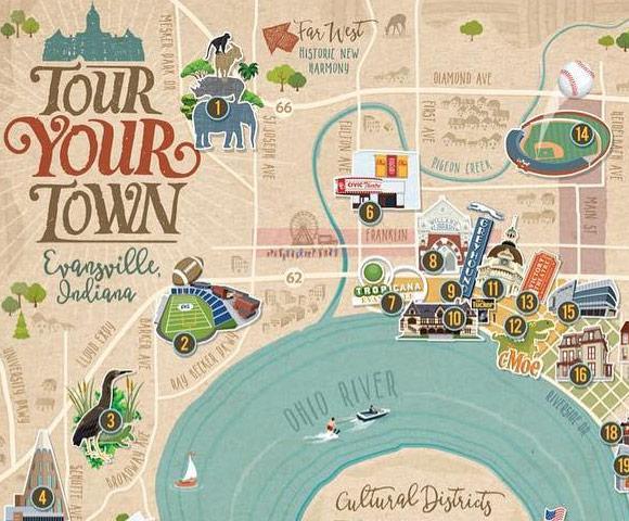 Town Map Illustration