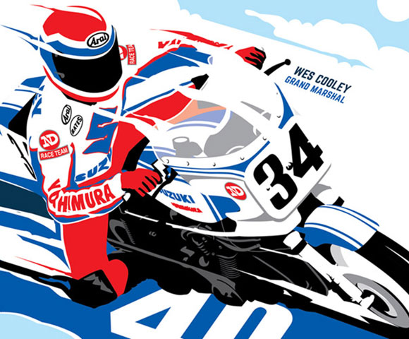 Motorcycle Event Illustration