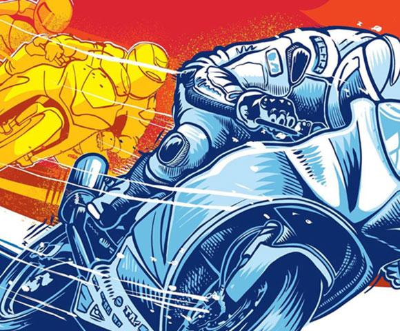 Racing Poster Design & Illustration